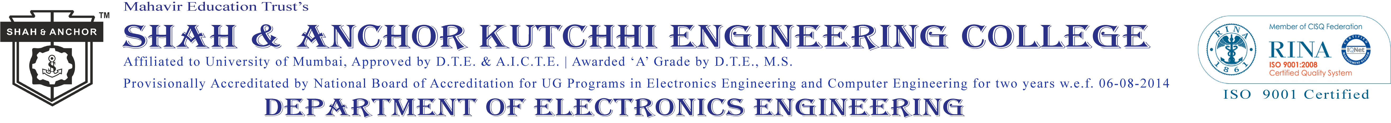 Electronics Engineering Shah And Anchor Kutchhi Basic Projects College Sakec