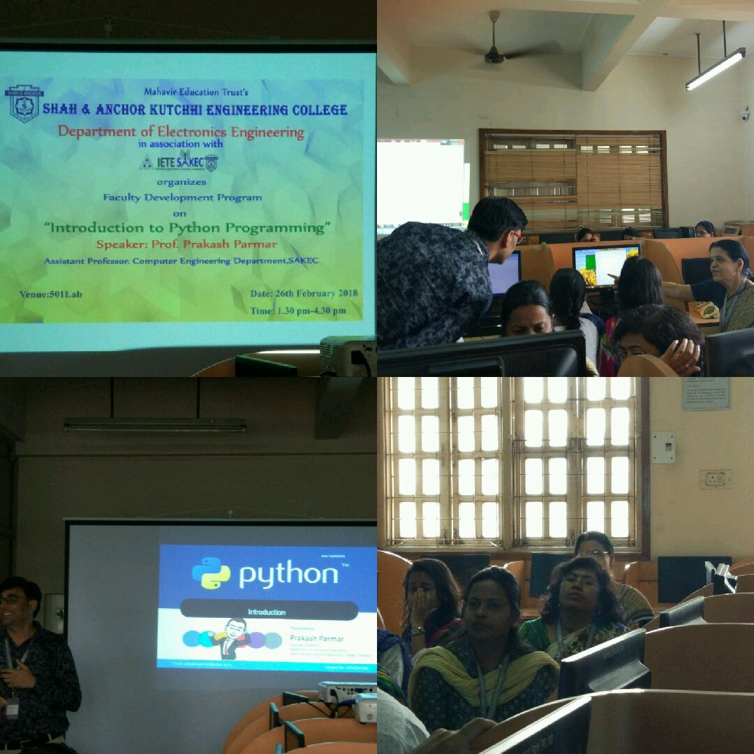 Faculty Development Program on 'Introduction to Python programming'
