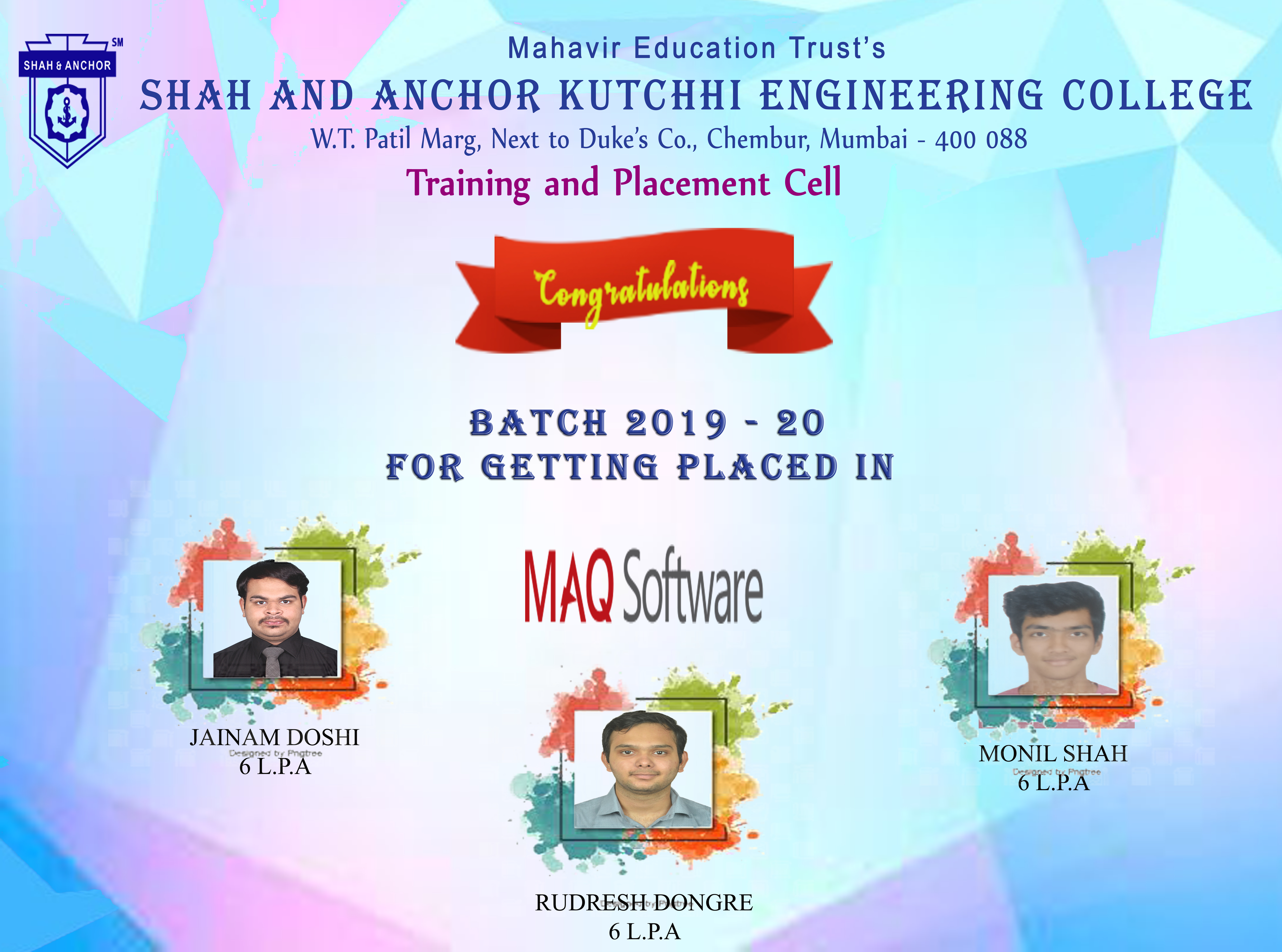 MAQ Software Placed Students