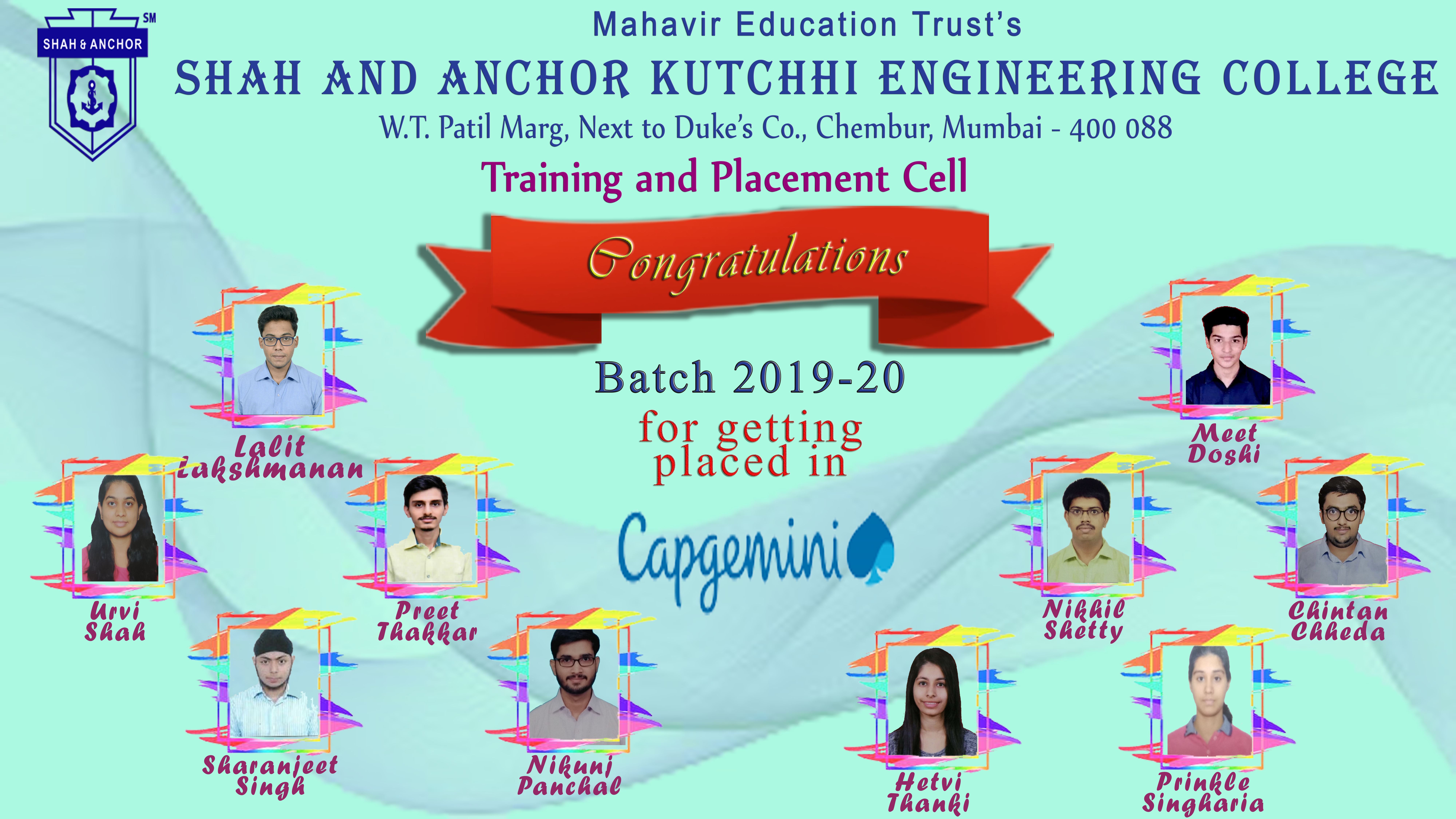 Capgemini India Placed Students