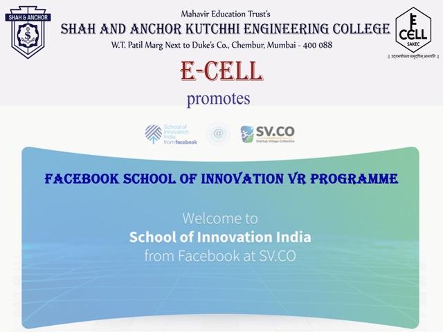 Facebook School of Innovation VR program