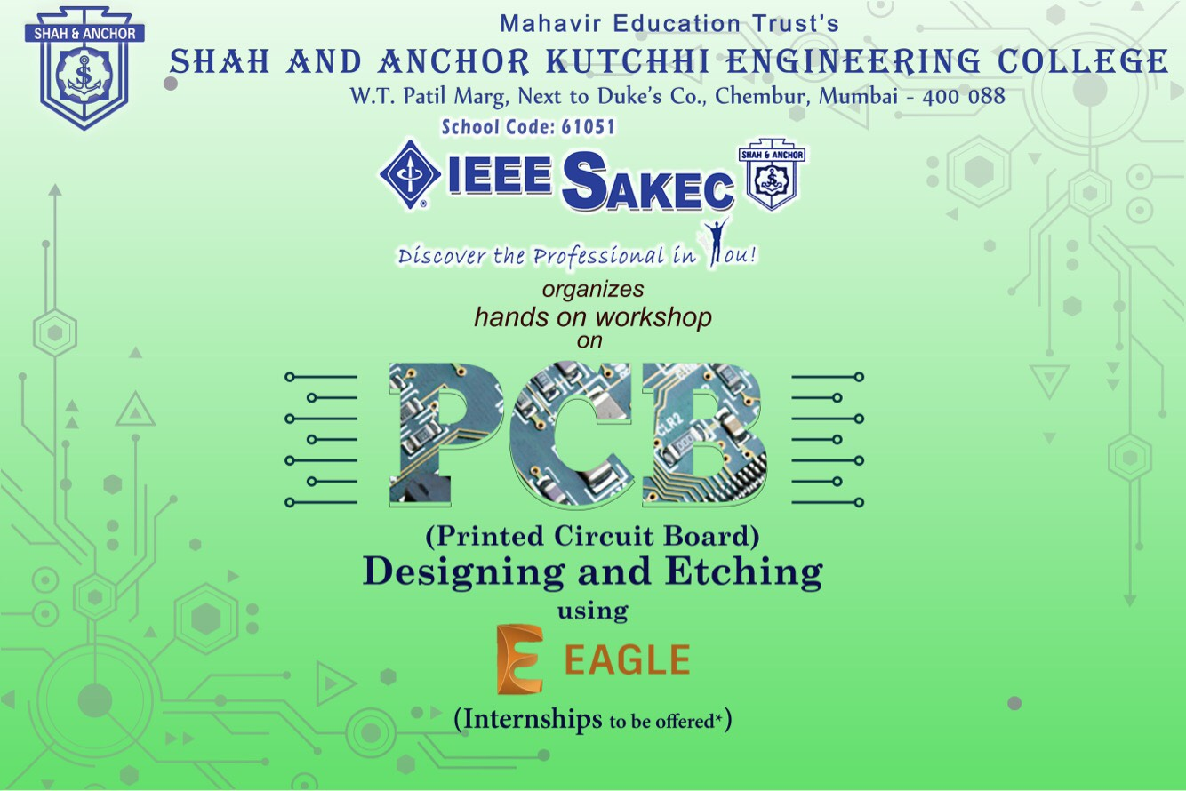 Pcb Designing Workshop Sakec Shah Anchor Kutchhi Engineering College Printed Circuit Board Design Designer