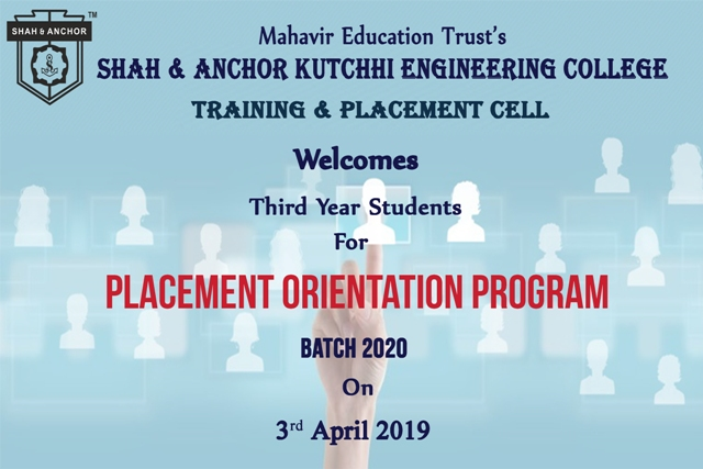 Placement Orientation for 2020 Batch