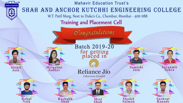 Reliance Jio Inocomm Ltd. Placed Students