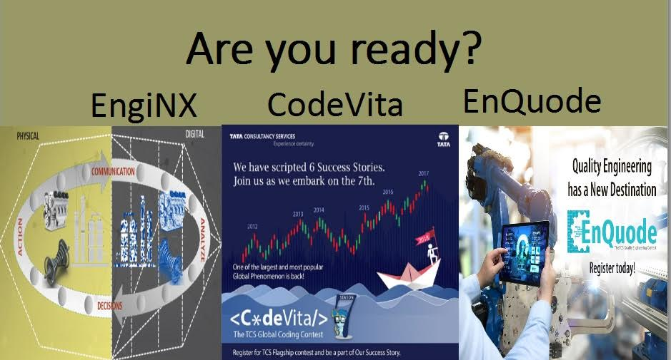 TCS Flagship Contests 2018 - CodeVita, EngiNX and EnQuode