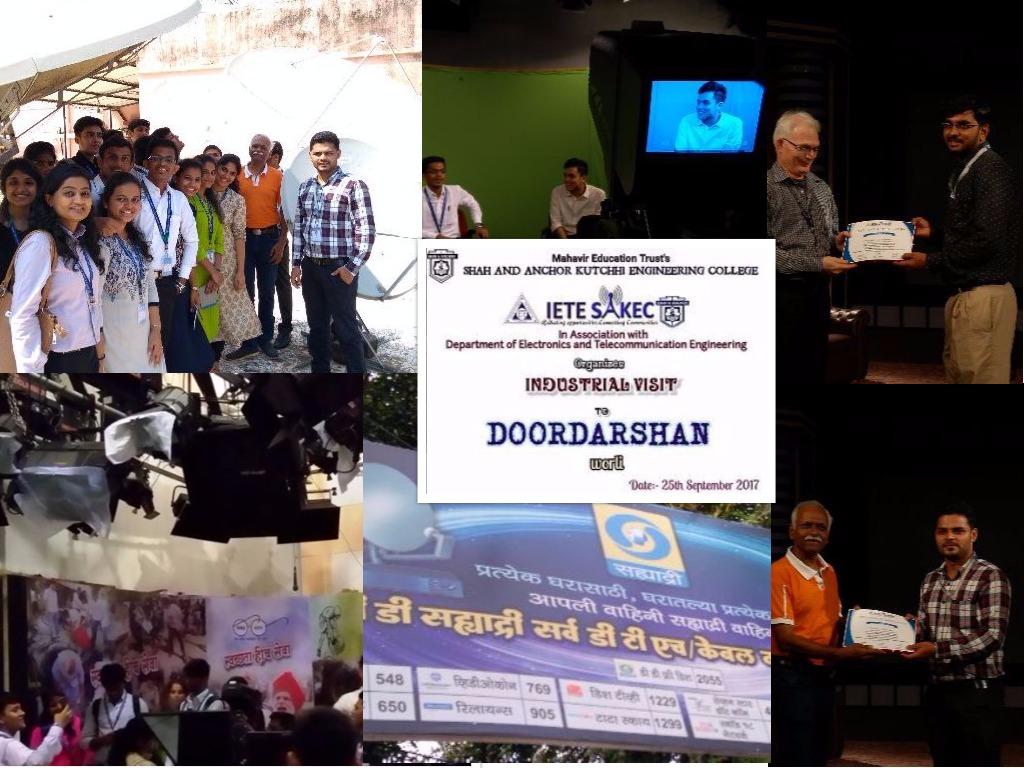 Industrial Visit to Doordarshan Kendra, Worli