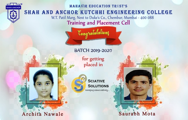 Sciative Solutions Placed Students