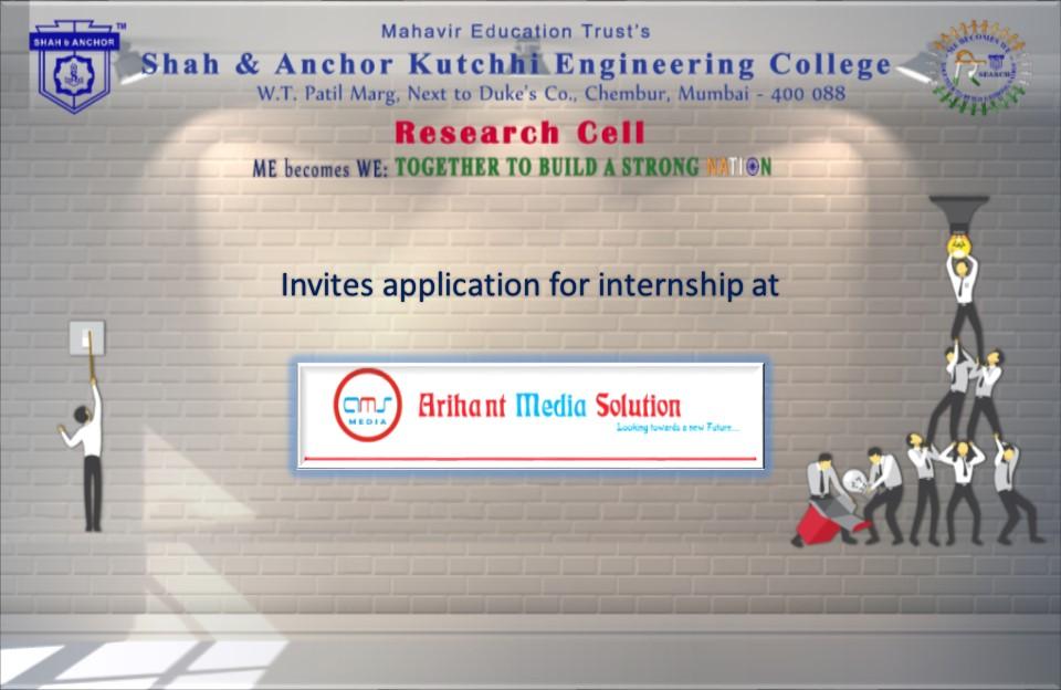 Internship at Arihant Media Solutions (AMS)