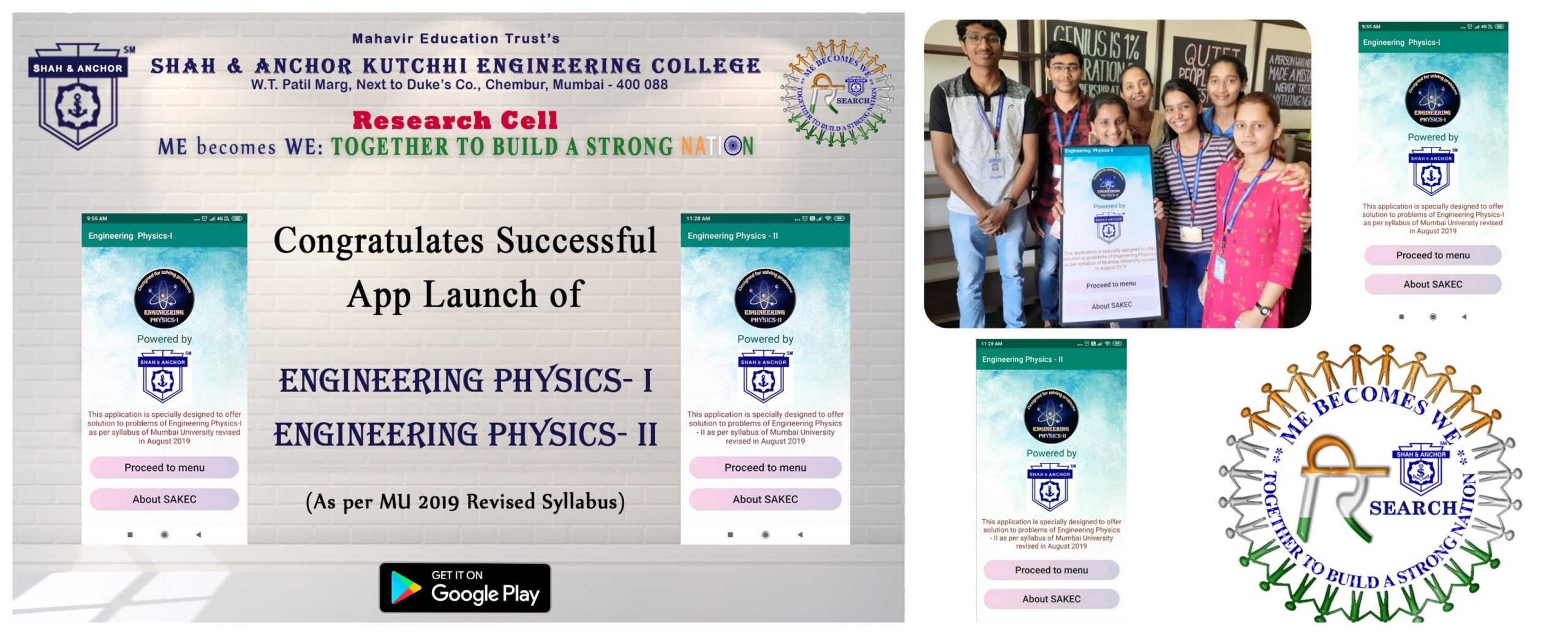 Project Launch of Engineering Physics-I &Engineering Physics-II App