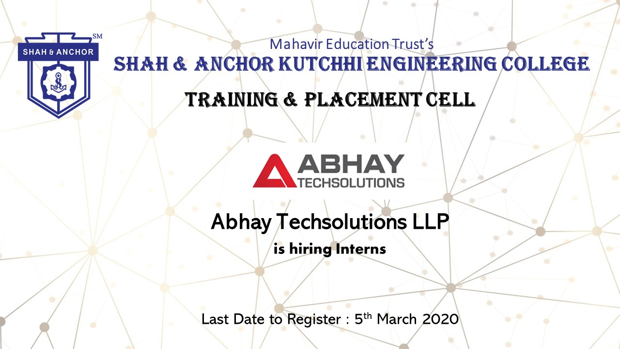Internship Opportunity at Abhay Techsolutions
