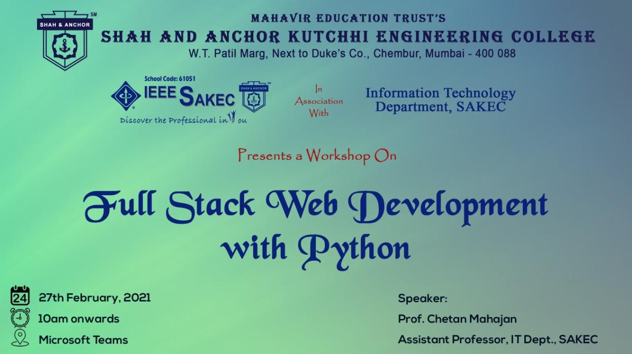 Full Stack Web Development with Python