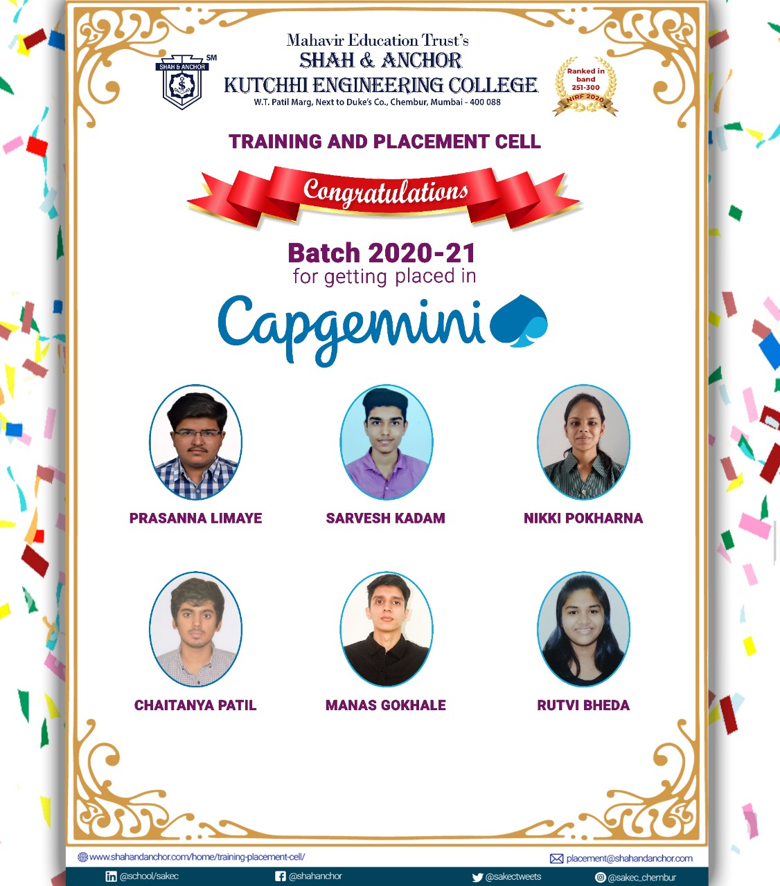 Capgemini placed batch 20-21