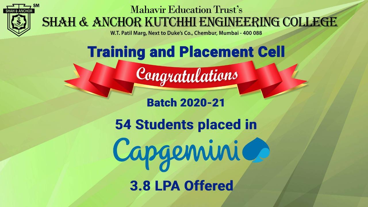 Capgemini placed batch 2020-21