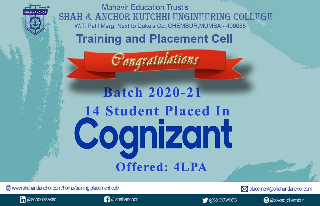 Cognizant placed students