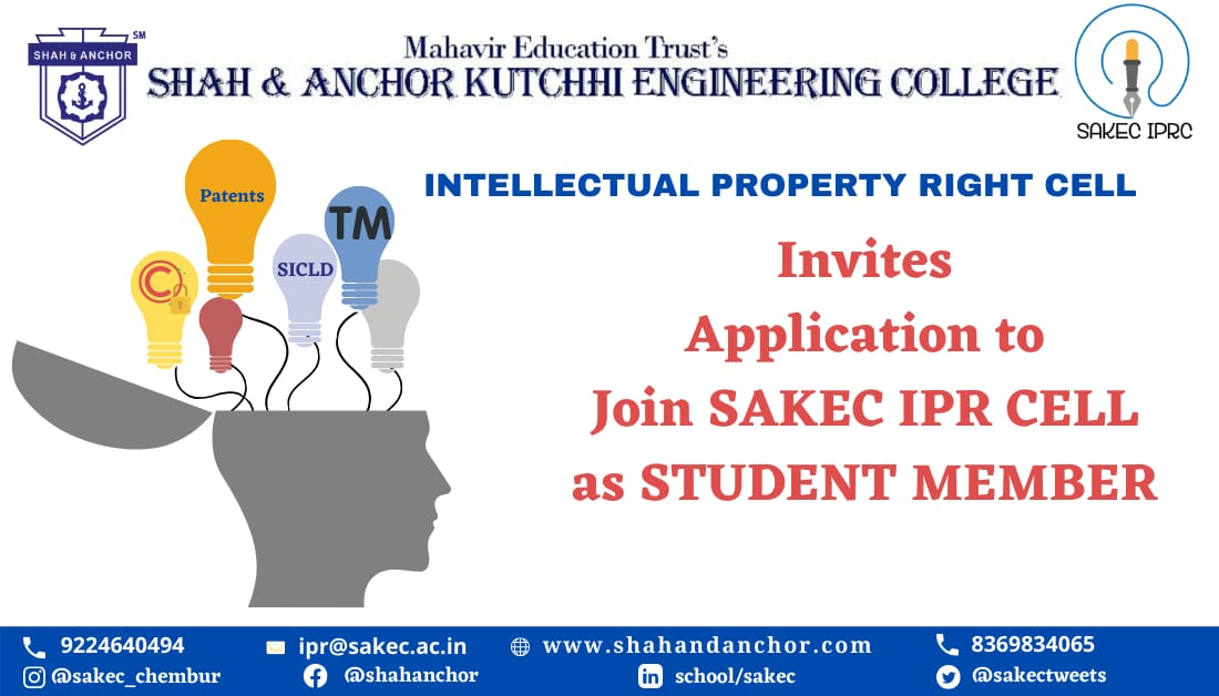 Application to join IPR Cell as student member