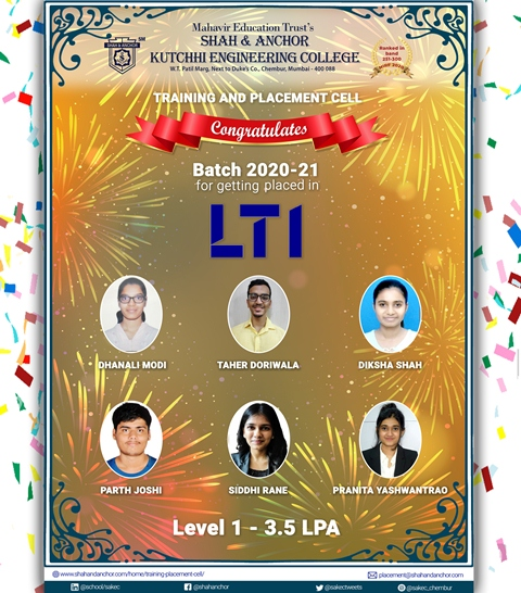 LTI placed Batch 2020-21