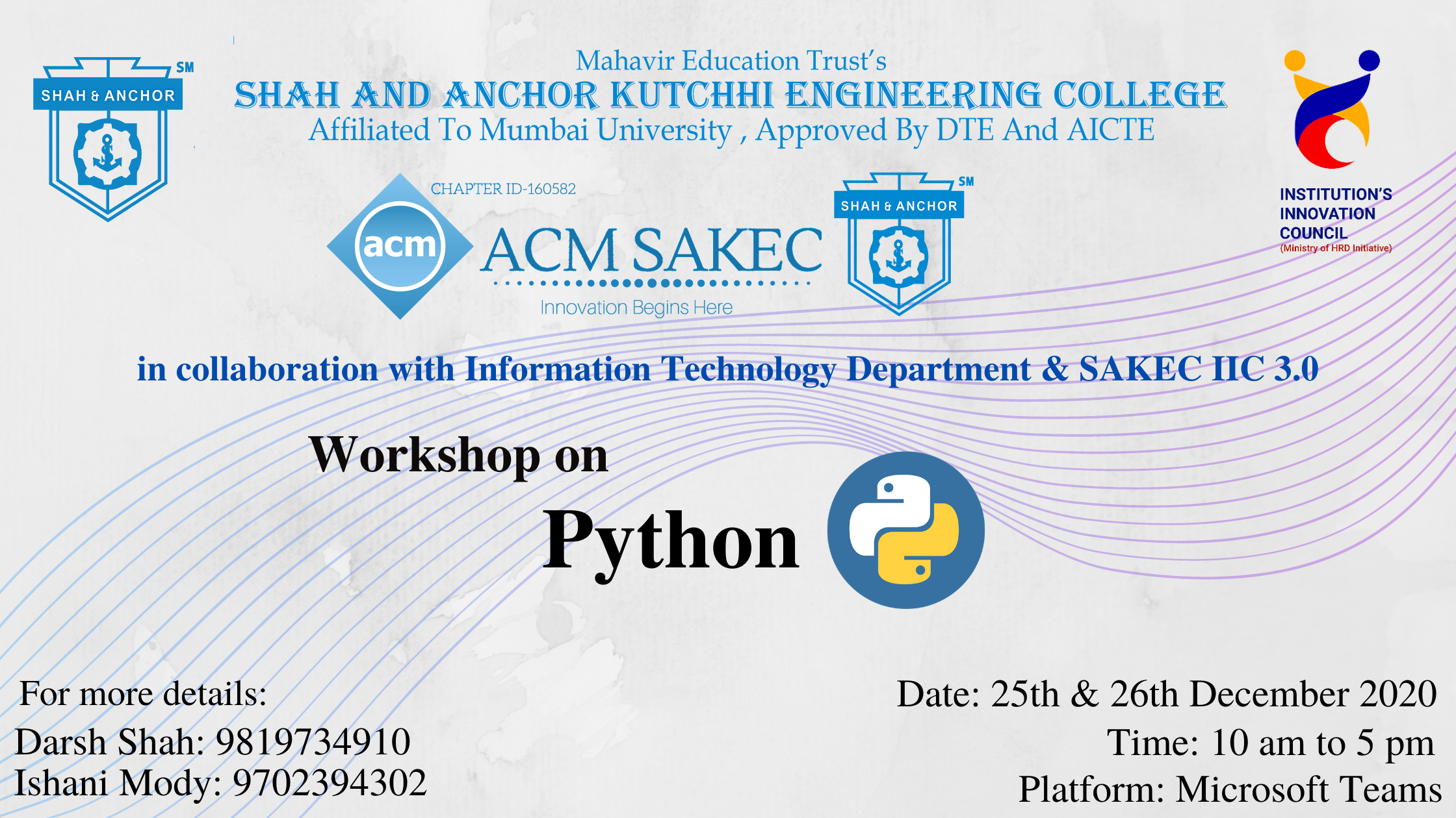 Hands-on Workshop on Python