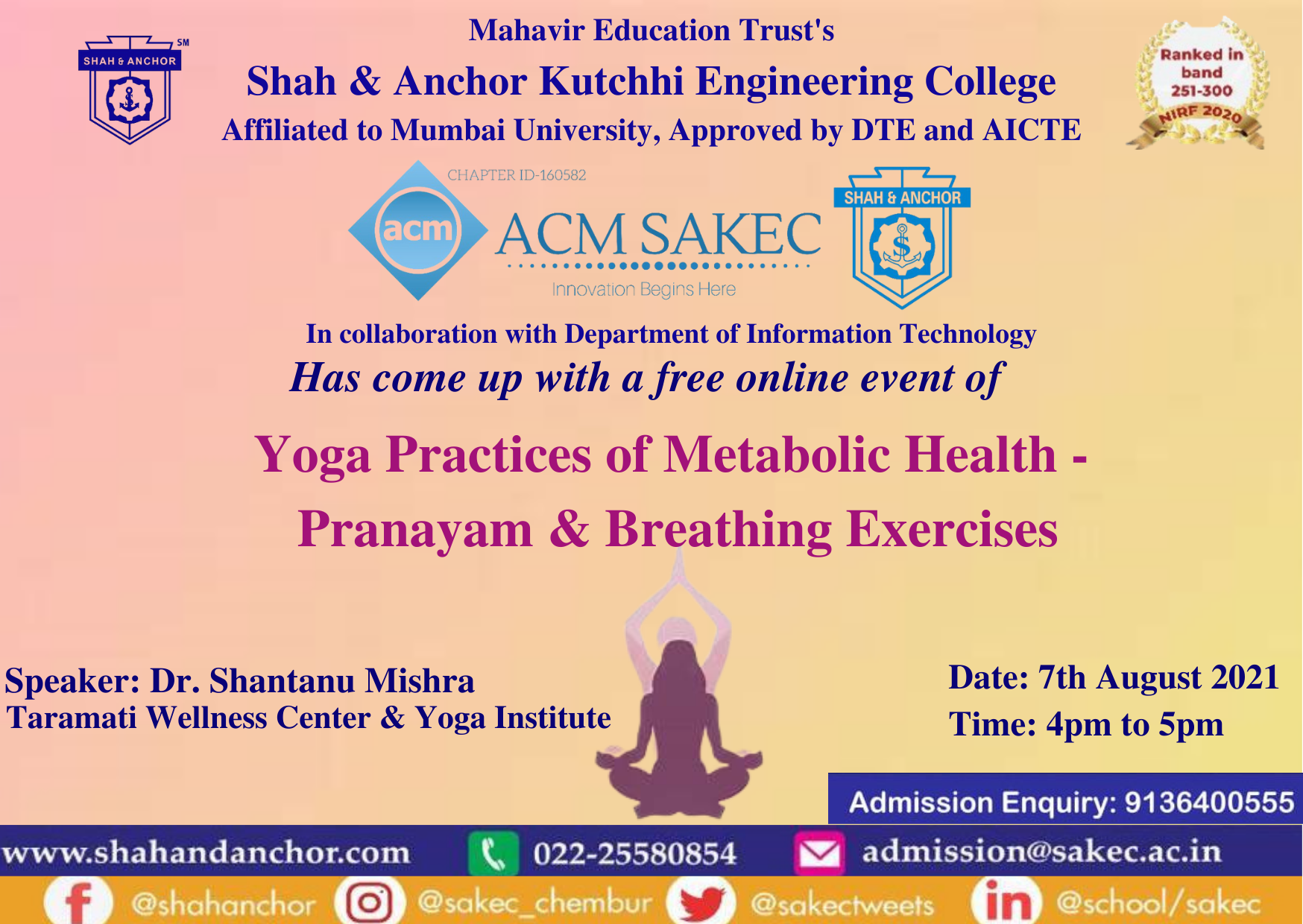 Yoga Practices of Metabolic Health: Pranayam & Breathing Exercises
