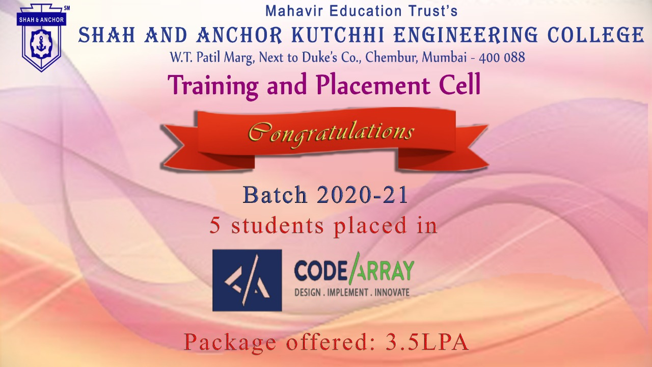 CODEARRAY TECHNOLOGIES placed students