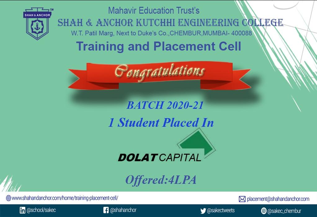 Dolat Placed- Batch 20-21