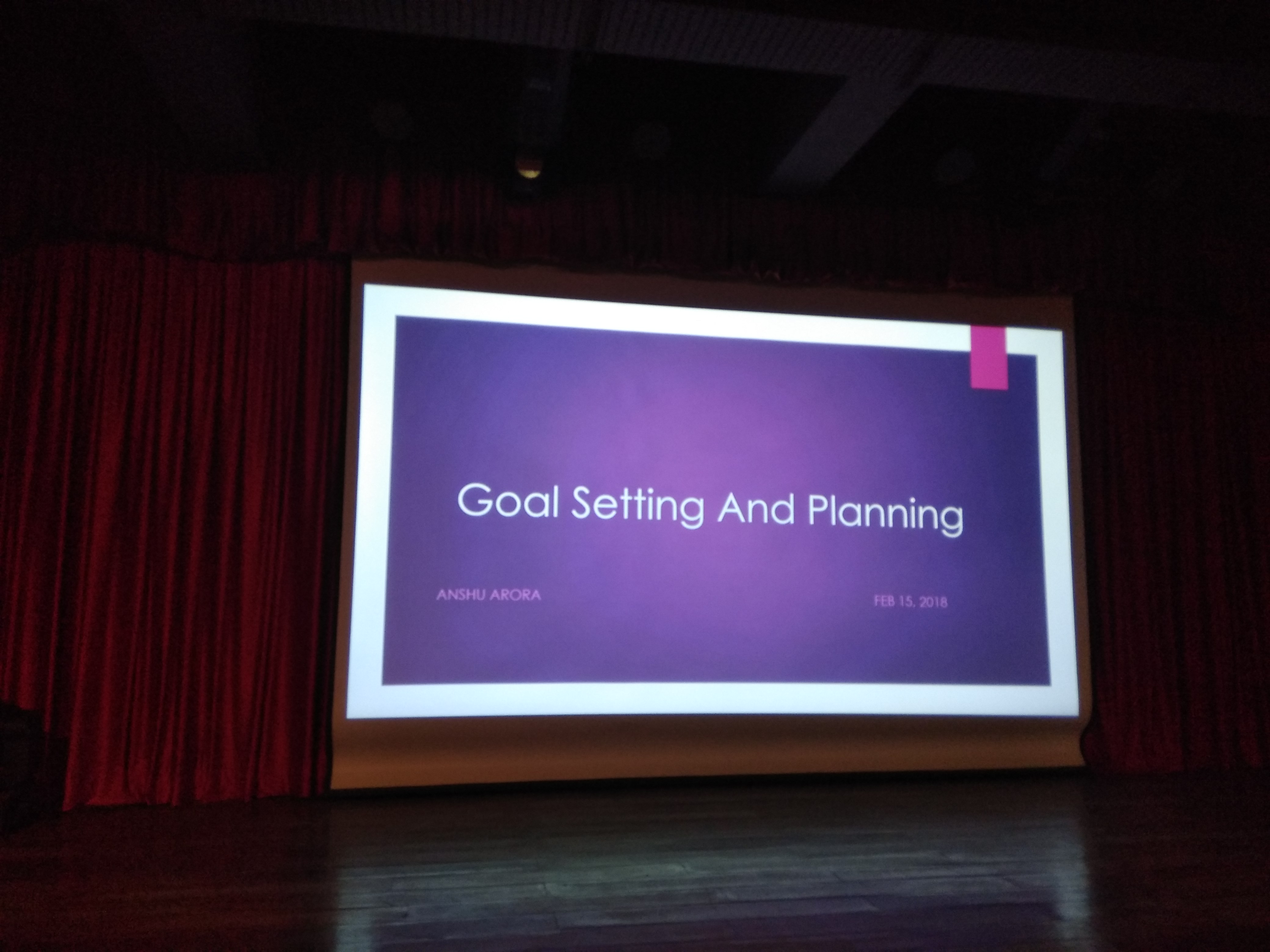 Session on Goal Setting & Planning