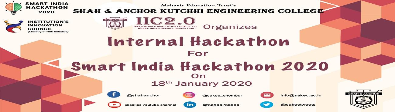 Internal Hackathon for SIH2020