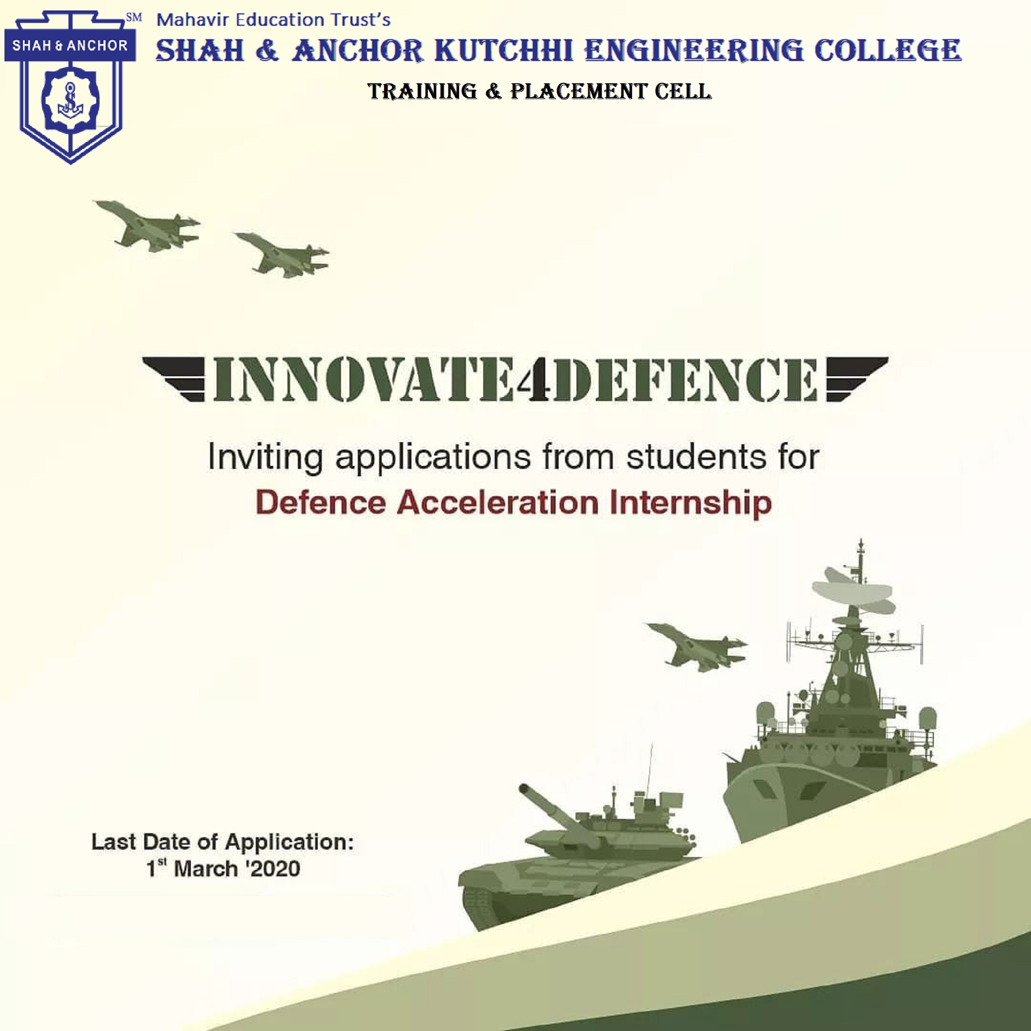 Internship Opportunity from Innovation for Defence Excellence (iDEX)