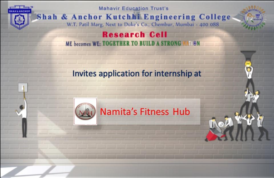Internship opportunity at Namita's Fitness Hub (NFH)